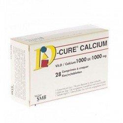 D-cure calcium 1000/1000 28 comprimes a croquer
