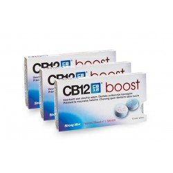 Cb12 Boost strong mint chewing gum pack 3x10