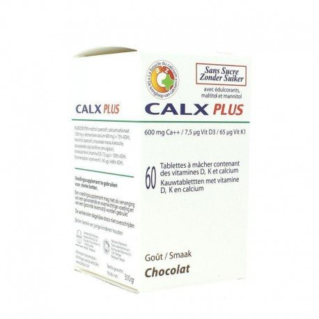 Calxx laboratories plus chocolat tablettes 60 x 600mg
