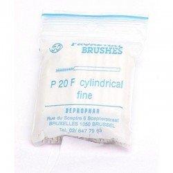 Proximal brush cylindrique montée sur manche brossette cylindrique fine red
