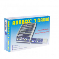 Pilbox Anabox bleu 7 jours