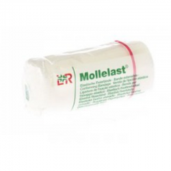 Mollelast bande fixation non adhesive 8cmx4m *14412
