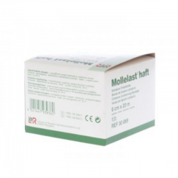 Mollelast haft bande de fixation cohesive blanche 6cmx20m *14435
