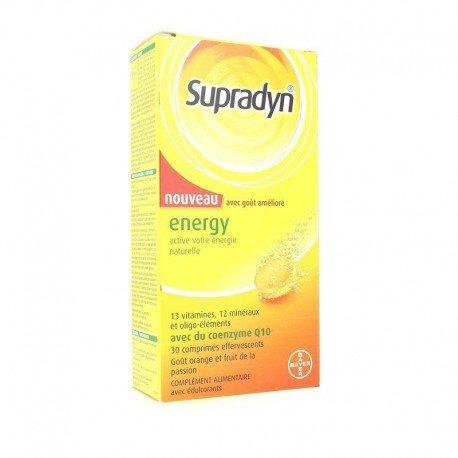 Supradyn energy coenzyme q10 comprimés effervescents 30 nouveau
