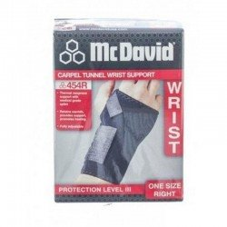 Carpal tunnel wrist support - bandage poignet du syndrome du canal carpien black right one size 454r