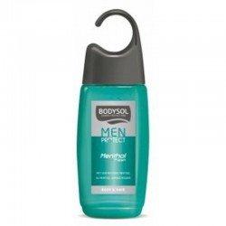 Bodysol men: gel douche menthol active nouvelle formule 250ml