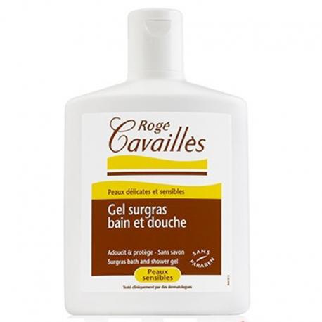 Rog cavaill s gel surgras bain douche peau sensible amande verte 300ml pharmasimple - Gel douche peau atopique ...