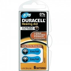Duracell Easytab piles auditives Da675 6 bleu