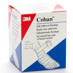 3m Coban bandage élastique white rouleau 7,5cmx3m 1 rouleau