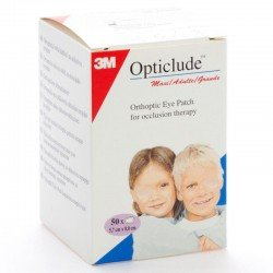 3m Opticlude compresses oculaires standards 50 pièces 82mmx57mm