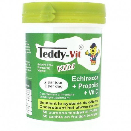 Teddy-vit echinacea + propolis + vitamine C 50 oursons