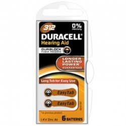Duracell easytab piles auditives da312 6 marron