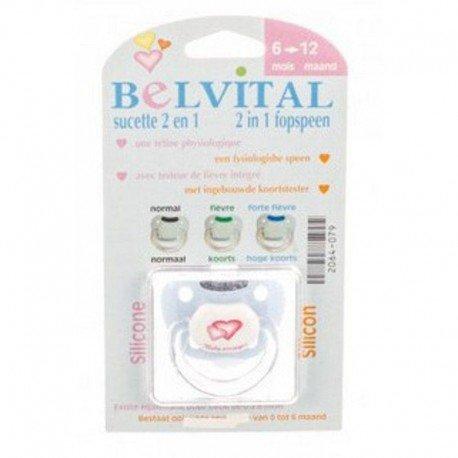 Belvital Sucette silicone + testeur température 6-12 mois