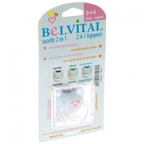 Belvital Sucette silicone + testeur température 0-6 mois