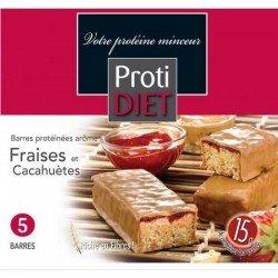 Protidiet Barre fraises cacahuètes 5 pièces