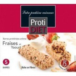 Protidiet Barres fraises et yaourt 5 pièces