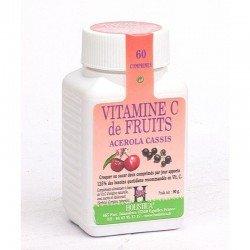 Vitamine c acerola-cassis comp 60