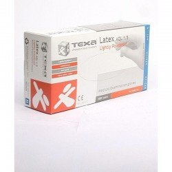 Texa gants latex blanc lp m 100