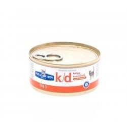 Hill's prescription diet feline K/D Poulet 156g