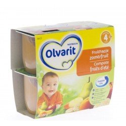 Olvarit fruit coup.fruit d'ete 4-36m 4x100g 4m33