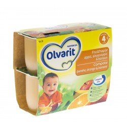 Olvarit fruit coup.pomme-orange-banan 4-36m 4x100g