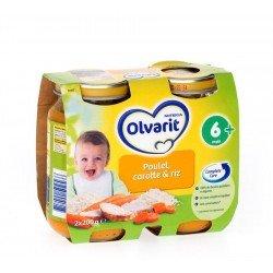 Olvarit carottes-riz-poulet 6m 2x200g