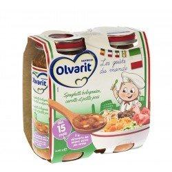 Olvarit spaghetti bologn.carotte-p.pois 15m 2x250g