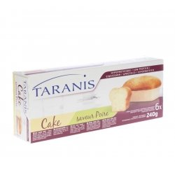 Taranis mini cake poire 240g (6 pieces) 4655