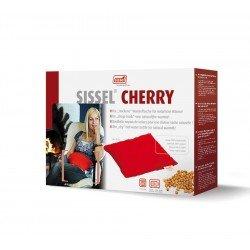 Sissel cherry coussin noyaux cerise 23x26cm rouge