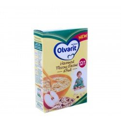 Olvarit flocons avoine & fruit 12m 250g