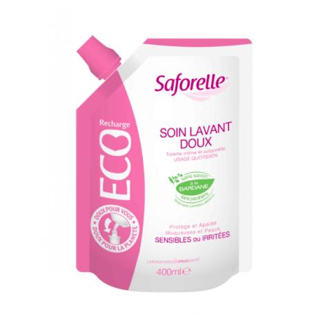 Saforelle Soin Lavant Doux Eco Recharge 400ml