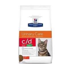 Hills prescription diet feline cd urinary stress reduced calorie poulet 1,5kg