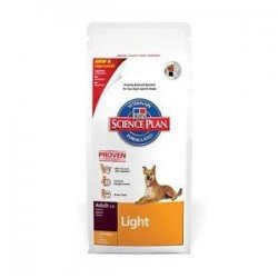 Hills science plan canine light adult chicken 12kg