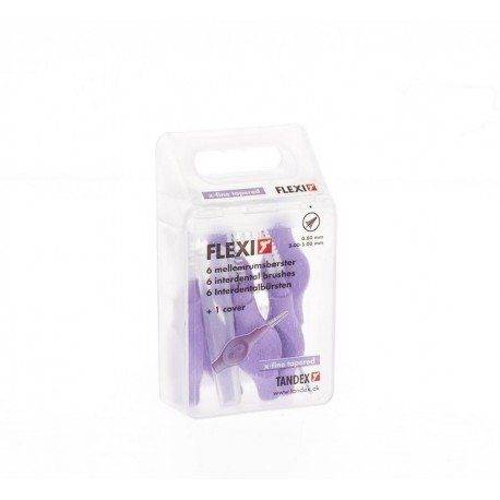 Flexi brossette interdentaire xfine tapered 6 purple