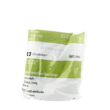 T.e.d.-kendall bas anti-embolie extra large xlong blanc/vert k78021
