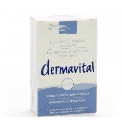 Dermavital: pain de toilette dermatologique pour peaux normales et sèches 100g