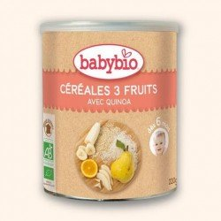 Babybio cereales 3 fruits bio 220g