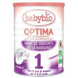 Babybio optima 1 lait er. age nourrisson bio bifidus 0-6 m 900g