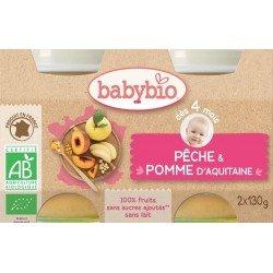 Babybio petit pot peche-pomme    2x130g