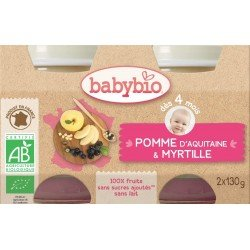 Babybio petit pot pomme-myrtille    2x130g