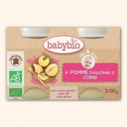 Babybio petit pot pomme-coing 2x130g