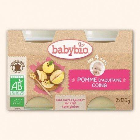 Babybio petit pot pomme-coing 2x130g