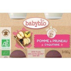 Babybio petit pot pomme-pruneaux 2x130g