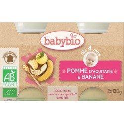 Babybio petit pot pomme-banane 2x130g