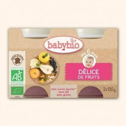 Babybio petit pot delice fruit    2x130g