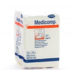 Medicomp non steriles 4 plis 7.5x7.5cm 100