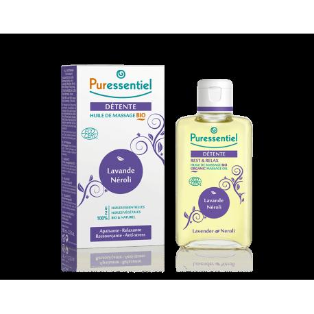 Puressentiel Huile massage bio détente - lavan/néroli 100ml