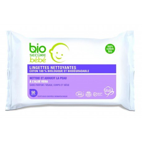 Bio secure bb lingettes biodegrad.aloe vera 50