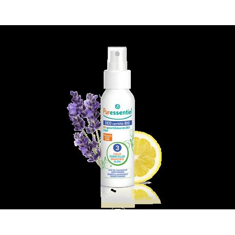 Puressentiel Déo Spray Bio aux 3 Huiles Essentielles 50ml