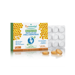 Puressentiel Pastilles respiratoires aux 3 miels boîte de 24 pastilles